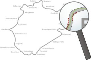 Streckenbeschreibung und Ideallinie der Nürburgring Nordschleife